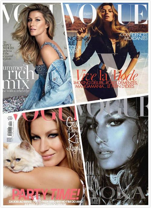 吉赛尔・邦辰拍摄的Vogue封面