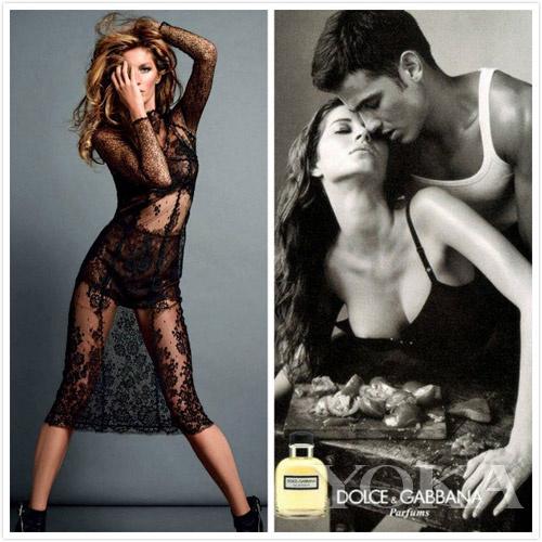 吉赛尔・邦辰拍摄Valentino和Dolce&Gabbana广告