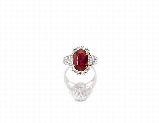 红宝石配钻石戒指, 卡地亚(Cartier)