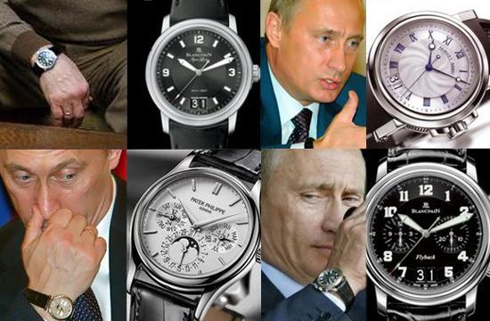 普京腕表价值达到年收入6倍以上