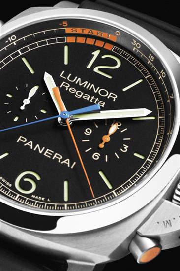 沛纳海47毫米3日动力储存飞返计时钛金属腕表