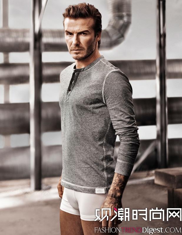 贝克汉姆演绎H&M 2014春夏男士广告高清图片
