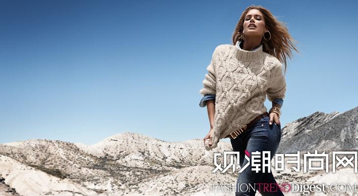 Doutzen Kroes拍摄H&M秋冬新品广告高清图片