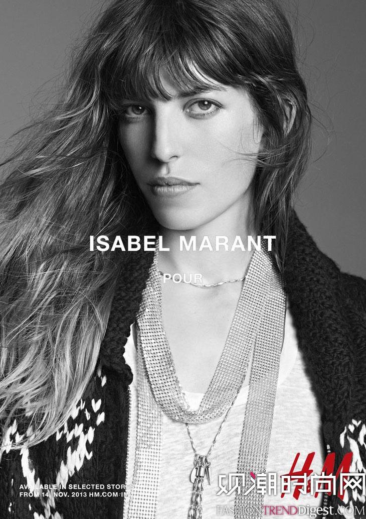 Isabel Marant与H&M联名系列广告高清图片
