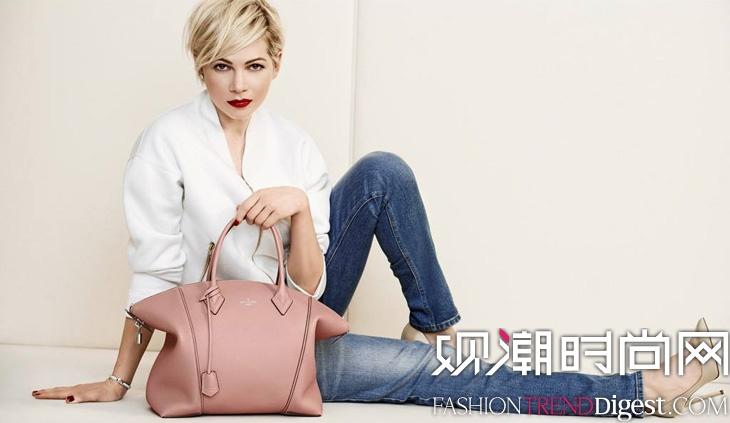 Michelle Williams代言Louis Vuitton手包广告高清图片