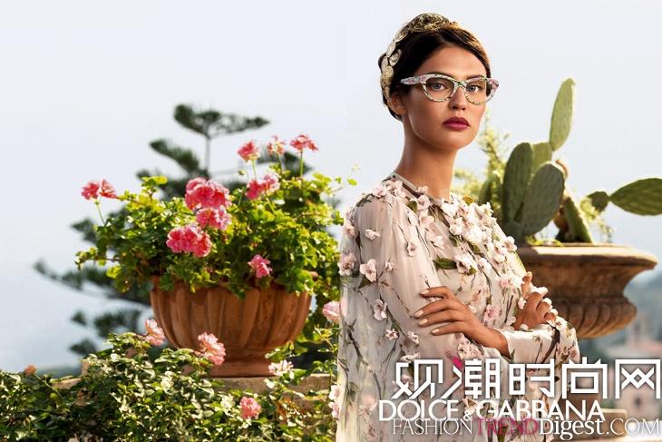 Bianca Balti拍摄 Dolce & Gabbana 2014眼镜系列广告大片高清图片