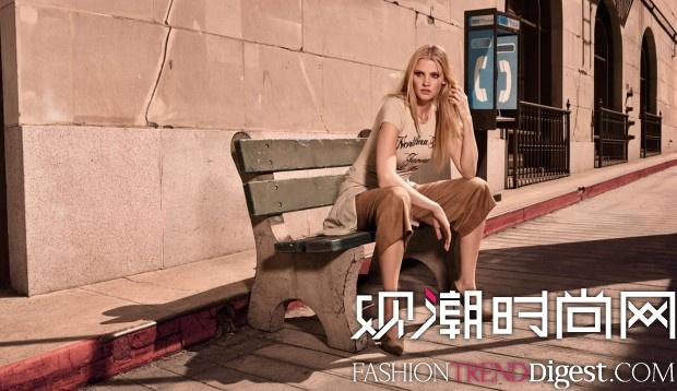 Lara Stone拍摄H&M 2015春夏系列广告高清图片