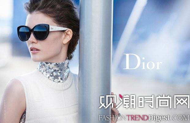 Diana Moldovan拍摄Dior眼镜系列广告高清图片