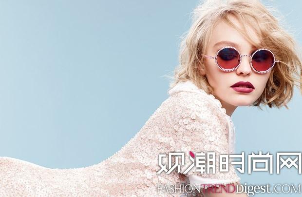 CHANEL 2015年秋冬Pearl眼�R广告由Lily-Rose Depp青春代言高清图片