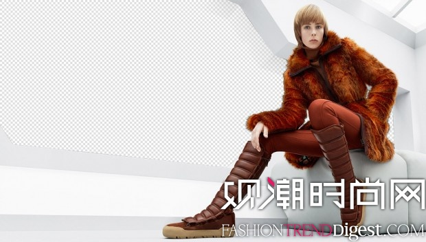 Edie Campbell代言H&M Studio 2015秋冬广告高清图片