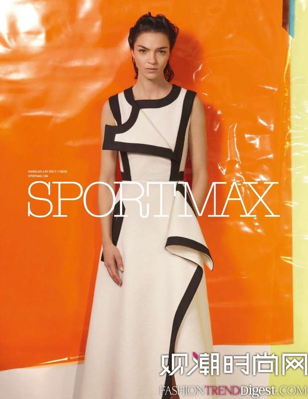 Mariacarla Boscono 成为SPORTMAX 广告新面孔高清图片