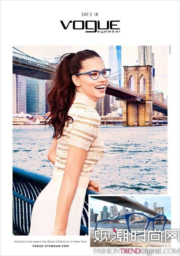 Adriana Lima为Vogue Eyewear2016.17秋冬系列演绎广告大片高清图片