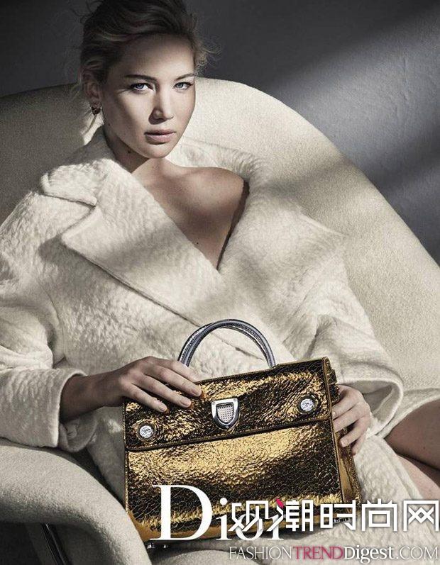 Jennifer Lawrence为Dior2016年秋冬手包系列演绎广告大片高清图片