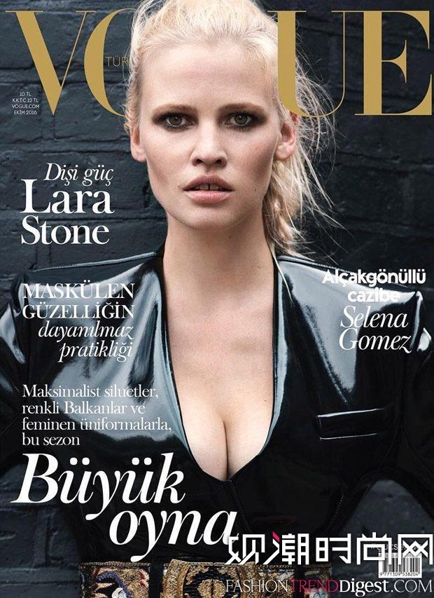 Lara Stone演绎Louis Vuitton2016年10月杂志封面高清图片
