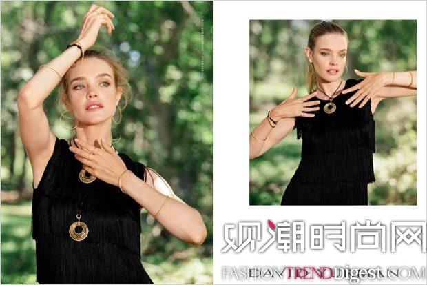 Natalia Vodianova携手Jean Campbell演绎David Yurman最新系列广告高清图片