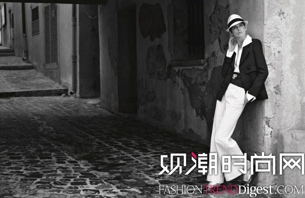 Stella Tennant出演Chanel Cruise 2017春夏广告高清图片