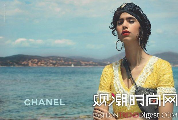 Mica Arganaraz出演Chanel Cruise 2017春夏广告高清图片