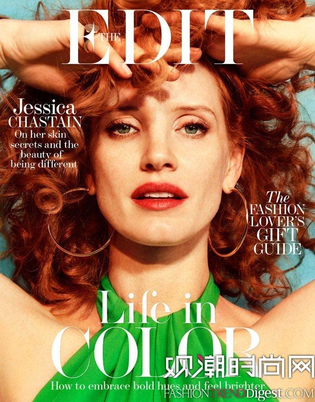 Jessica Chastain演绎《The Edit》2017年最新杂志封面高清图片