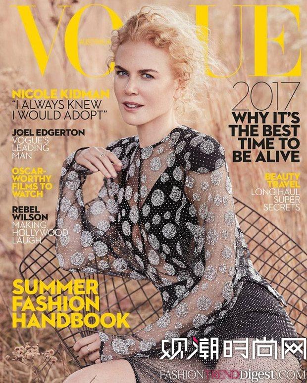 Nicole Kidman演绎澳大利亚版《Vogue》2017年1月刊封面高清图片