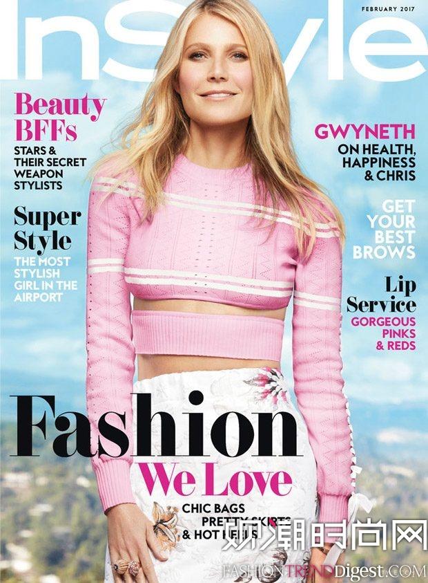 Gwyneth Paltrow为《InStyle》美国版2017年2月刊演绎封面大片高清图片