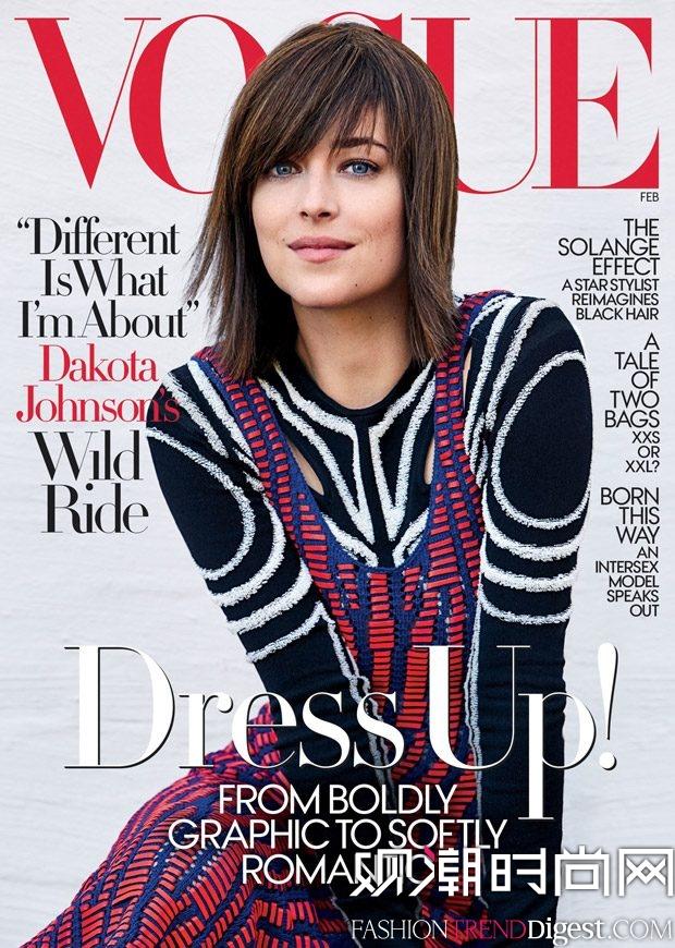 Dakota Johnson为《Vogue》美国版2017年2月刊演绎封面故事高清图片