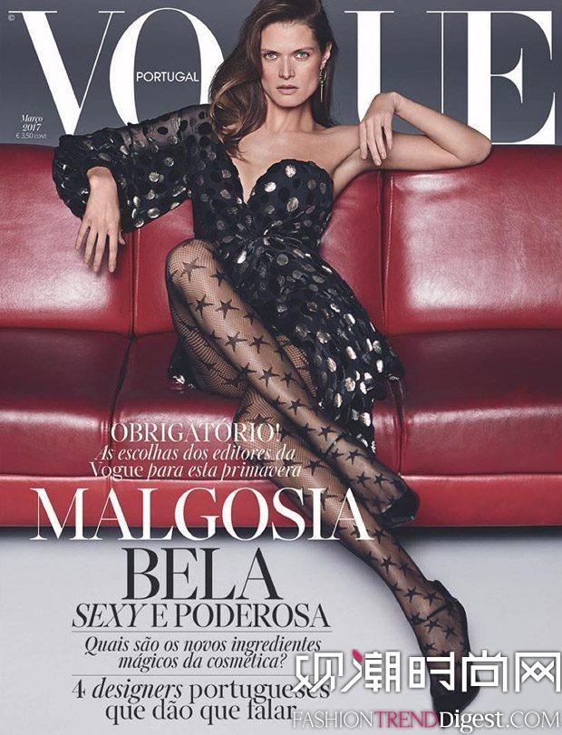 Malgosia Bela登上《Vogue》葡萄牙版2017年3月刊封面高清图片