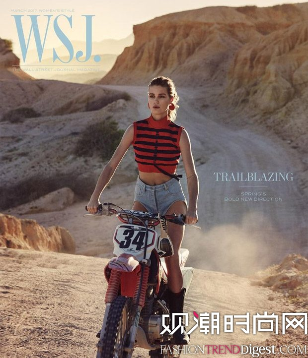 Luna Bijl登上《WSJ. Magazine》2017年3月杂志封面高清图片