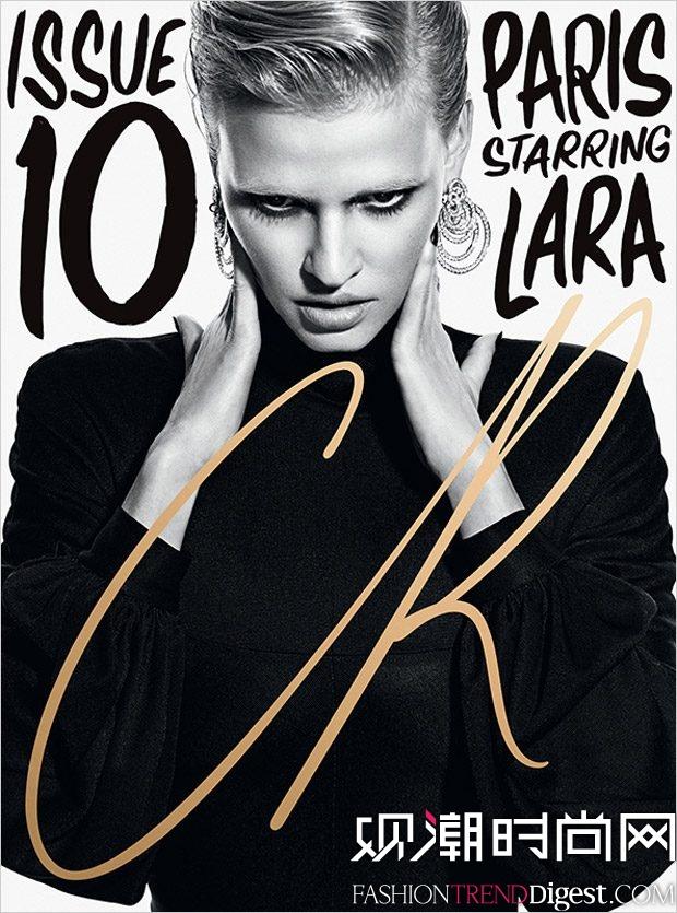 Lara Stone为《CR Fashion Book》2017年10号刊演绎造型高清图片