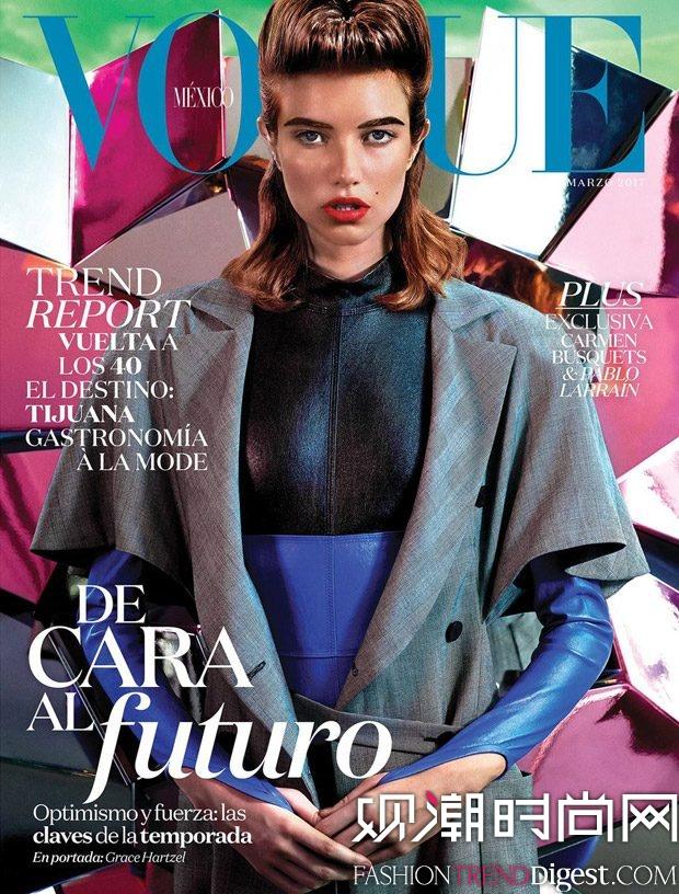 Grace Hartzel 登上墨西哥版《Vogue》2017年3月杂志封面高清图片