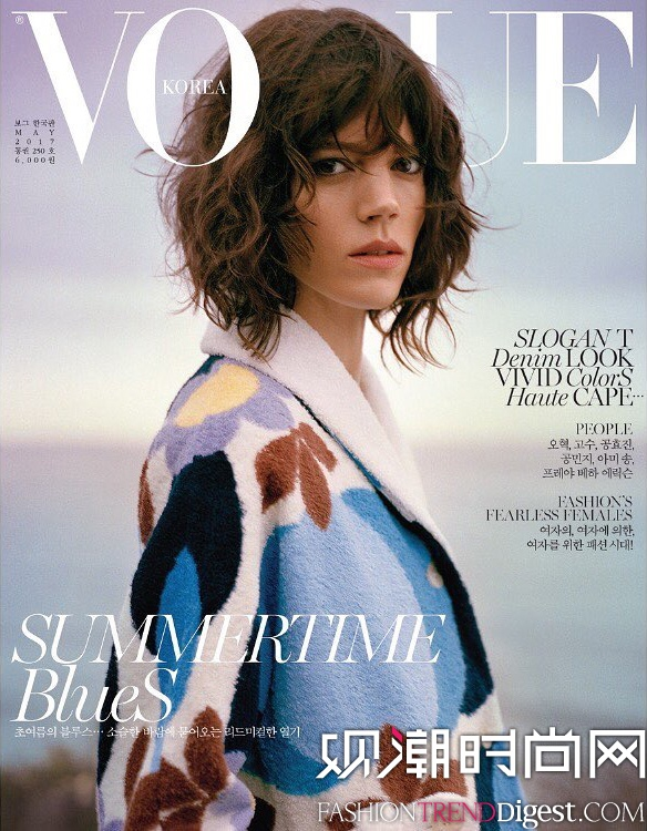 Freja Beha Erichsen登上韩国版《Vogue》2017年5月杂志封面高清图片
