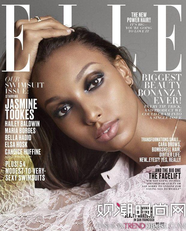 Jasmine Tookes等人演绎美国版《Elle》2017年5月杂志封面高清图片