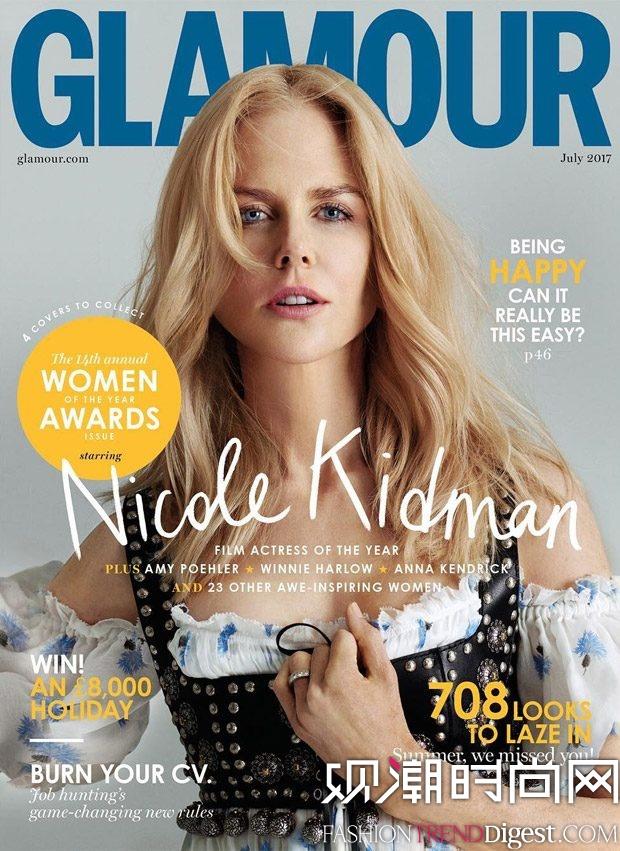 Nicole Scherzinger演绎英国版《Glamour》2017年7月杂志封面高清图片