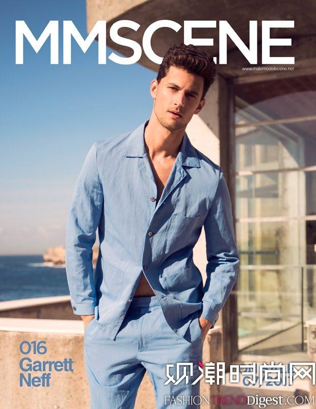 GARRETT NEFF 演绎《MMSCENE》演绎2017年7月刊杂志封面高清图片