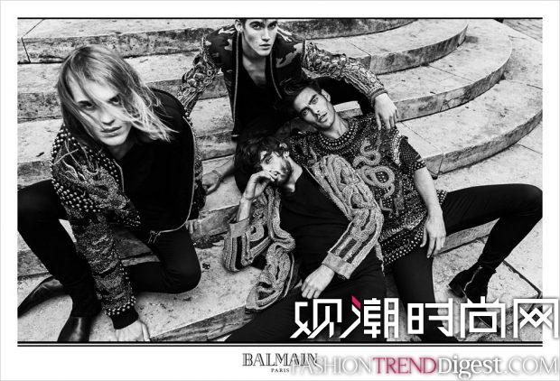 BALMAIN 2017秋冬男装系列广告大片高清图片