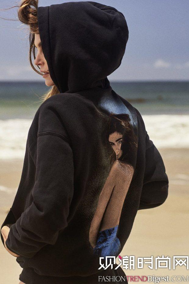 Cindy Crawford x RE/DONE合作系列广告大片释出高清图片
