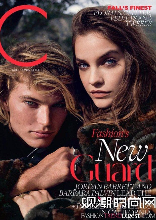 Jordan Barrett & Barbara Palvin 演绎《C Magazine》2017年9月杂志封面高清图片
