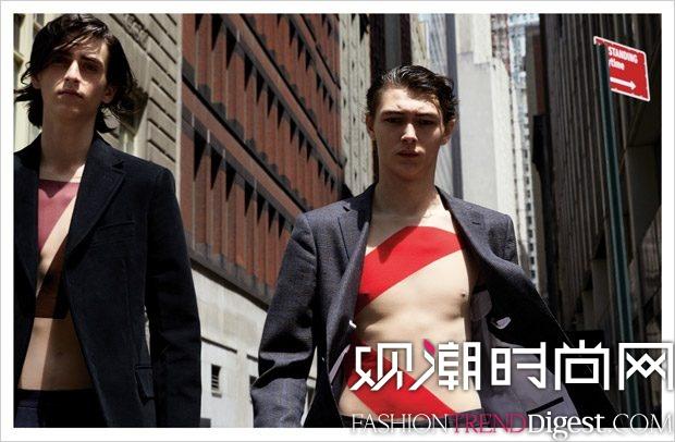 Wall Street演绎《VMAN》2017年秋冬杂志大片高清图片