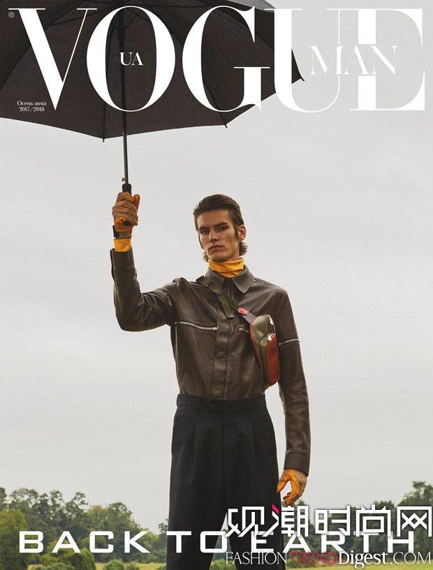 Elias de Poot 登上乌克兰版《Vogue Man》2017年秋冬刊杂志封面高清图片