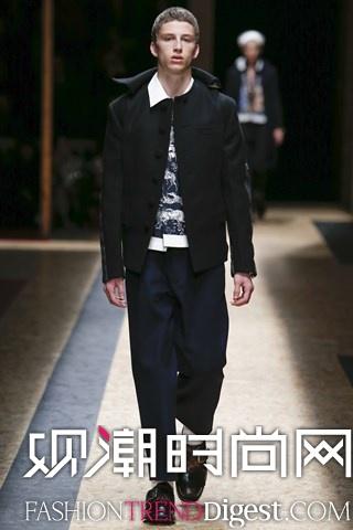 Prada 2016秋冬男装系列米兰时装周高清图片