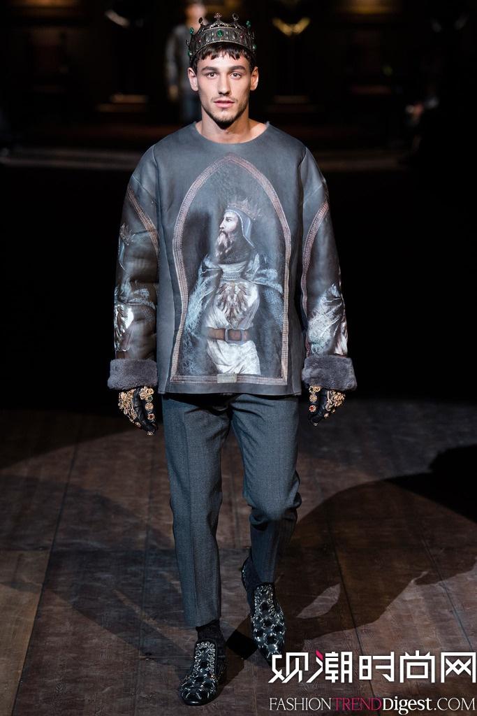 """Dolce & Gabbana 2014秋冬男装系列之""""辉煌的西西里诺曼王朝""""高清图片"""