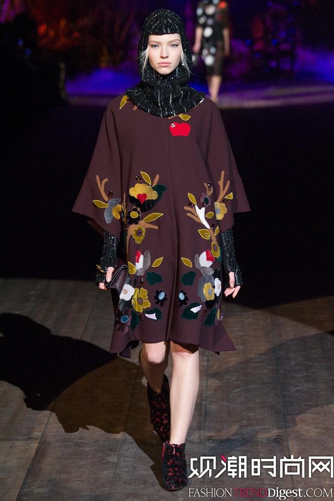Dolce & Gabbana 2014秋冬米兰时装周女装秀场高清图片
