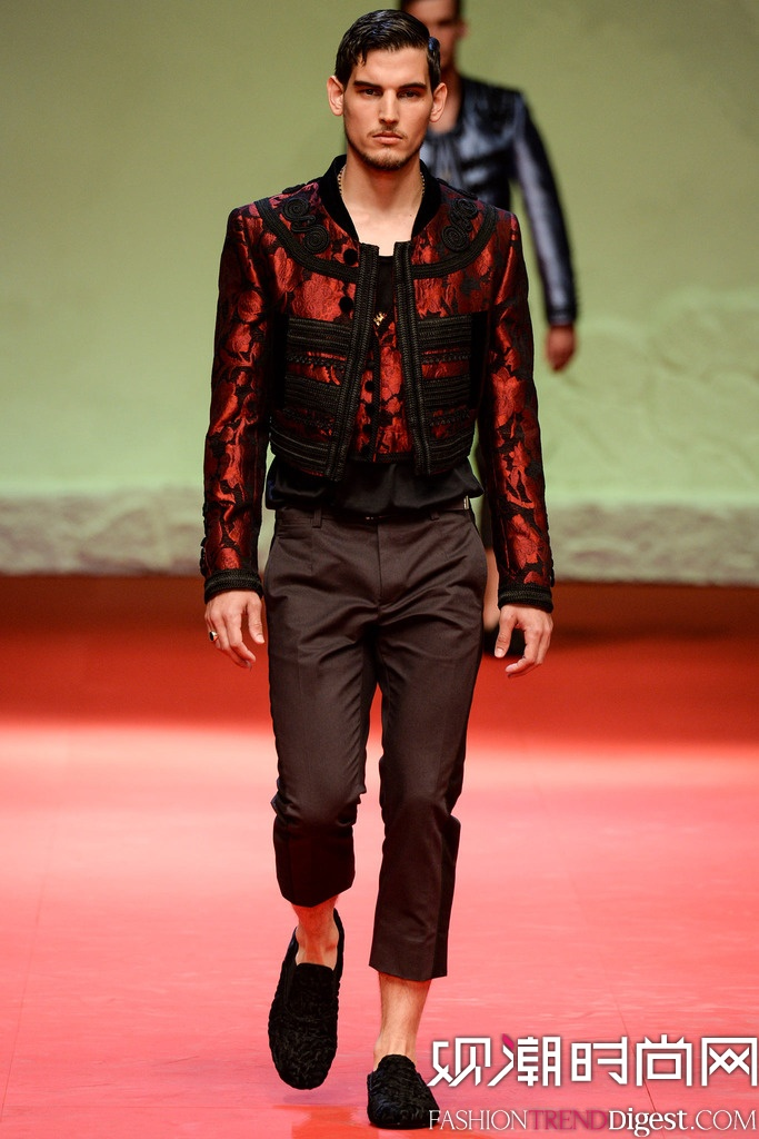 Dolce & Gabbana 2015春夏米兰男装周秀场高清图片