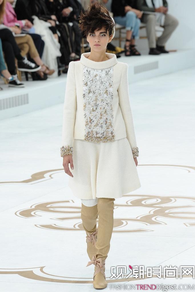 Chanel 2014秋冬巴黎时装周高定秀场高清图片
