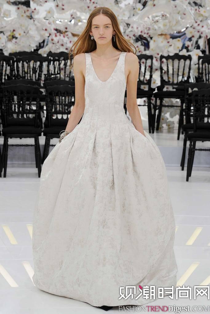 Christian Dior 2014秋冬巴黎时装周高定秀场高清图片
