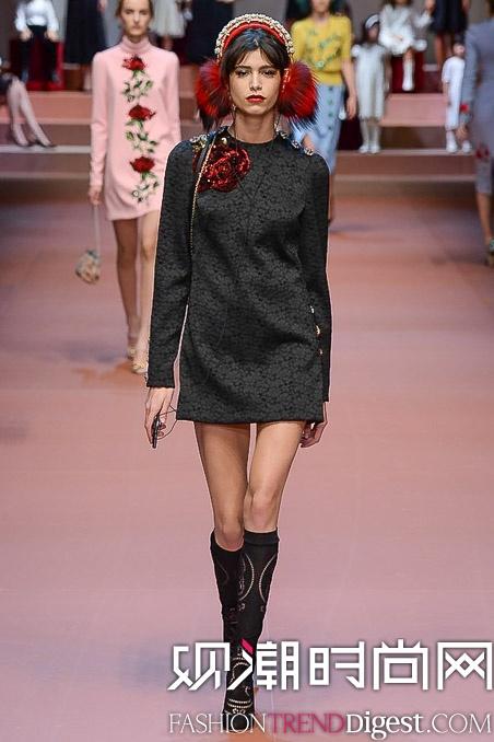 Dolce & Gabbana 2015秋冬时装周系列秀场高清图片