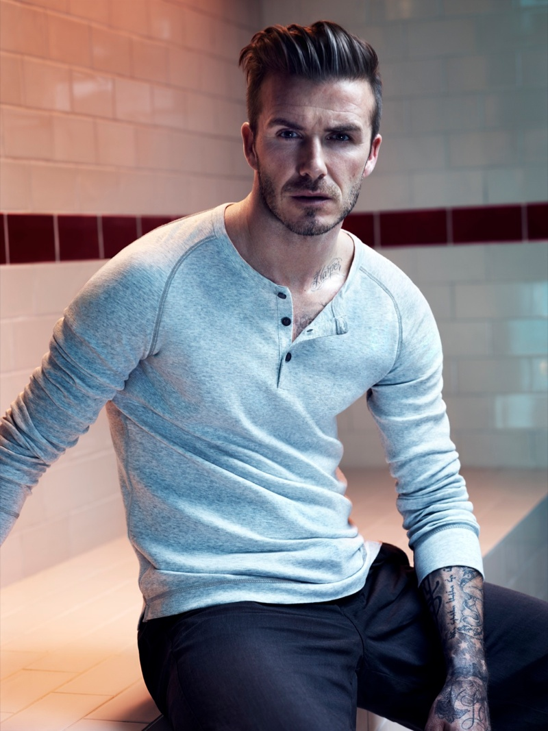 DAVID BECKHAM BODYWEAR for H&M 2013秋冬广告高清图片