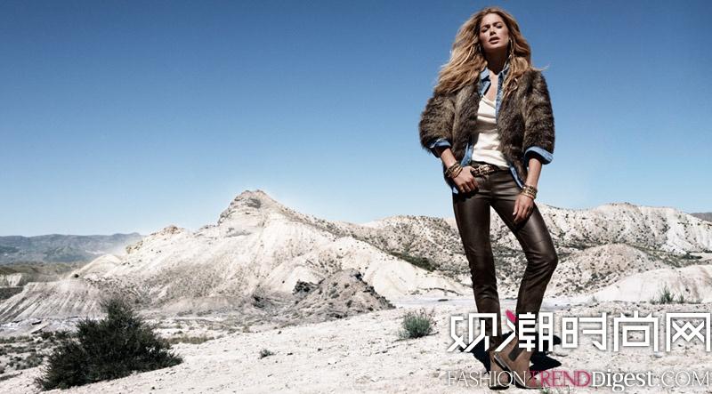 DOUTZEN KROES演绎H&M 2013冬季广告高清图片