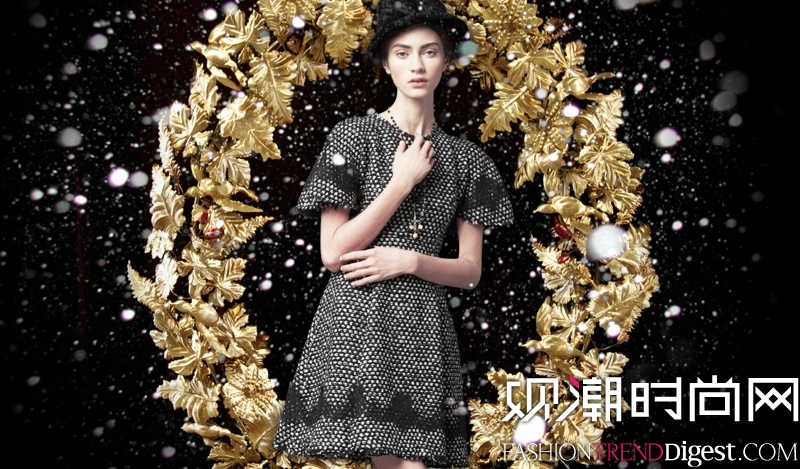 Marine Deleeuw + Ji Hye演�[Dolce & Gabbana 2013度假系列Lookbook高清�D片