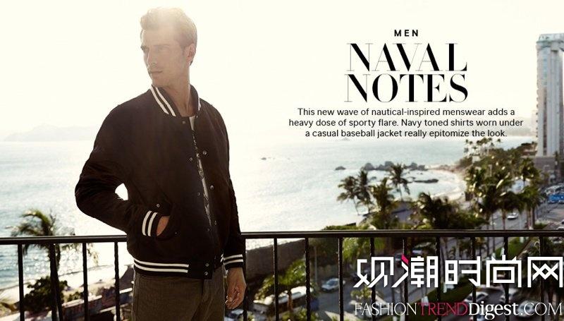 法国性感男模Clement Chabernaud为H&M拍摄2014春季系列广告高清图片
