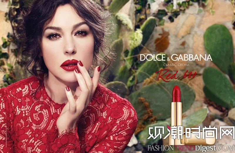 Monica Bellucci演绎 Dolce & Gabbana唇膏广告高清图片